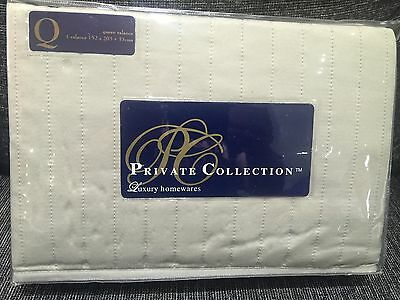 Brand New Private Collection Hampton Linen Queen Bed Valance