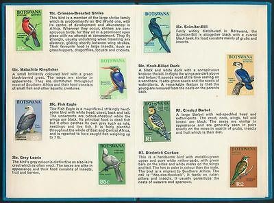 Botswana stamp Birds set glued in book without gum 1967 Mi 19-32 WS202555