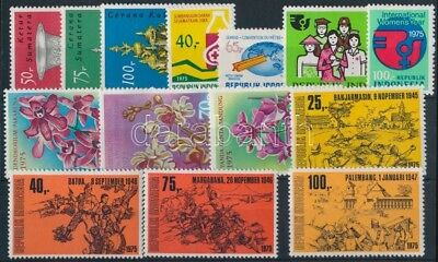 Indonesia stamp 4 sets + 2 individual values Hinged 1975 WS203962