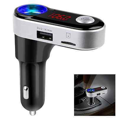Bluetooth HandsFree Car Kit FM Transmitter MP3 Player Cigarette Lighter Dual USB
