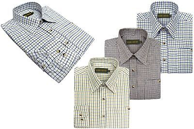 Lanark Mens Country Tattersall Check Shirt | Hunting | Fishing | Shooting
