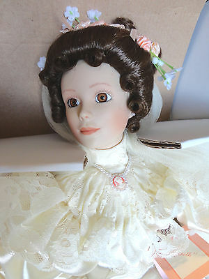 Ashton-Drake - Elizabeth's 1900's Wedding Dress Porcelain Doll COA #3058FJ NIB