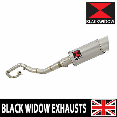 Exhaust System 200Ss Round Stainless Silencer Yamaha Wr125 Wr125X Wr125R 09-16