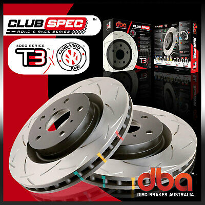 Front Pair DBA T3 Brake Rotor Slotted DBA4046S Fit Holden Commodore VT VX VY VZ