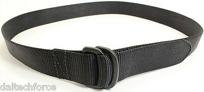 "Airport Friendly Men's Black Nylon Belt in Sizes up to 80""  - Made in USA"