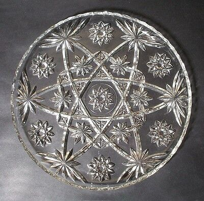 Eapc Early American Prescut Dinner Plate S Clear Anchor Hocking Star Of David