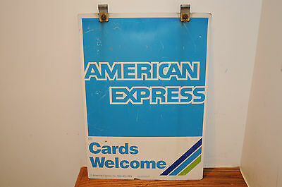 Vintage 1996 American Express Double Sided Sign  #629258047 Original Aluminum ..