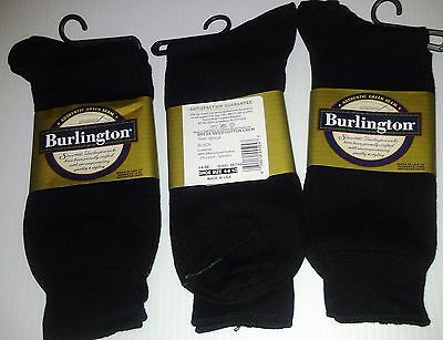 Burlington Dress Sized Cotton Crew Sock, Shoe Size 6-6 1/2, Black, 24 pr $35.99!