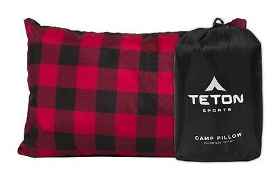 TETON Sports Camp Pillow Perfect for Camping and Travel; Ultralight Pillow; Blac