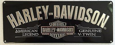 Ande Rooney HARLEY DAVIDSON V-TWIN Tin American Legend HD Motorcycle Garage Sign
