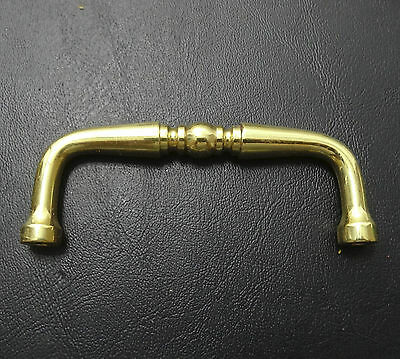 "Vintage Cabinet Hardware metal Gold color bar style Drawer Pull 3 1/4"" long"
