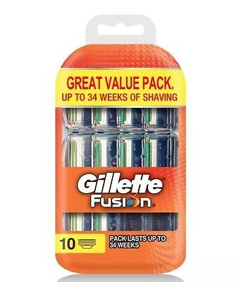 GILLETTE FUSION 10 Pack Of  BLADES 100% AUTH BNIP