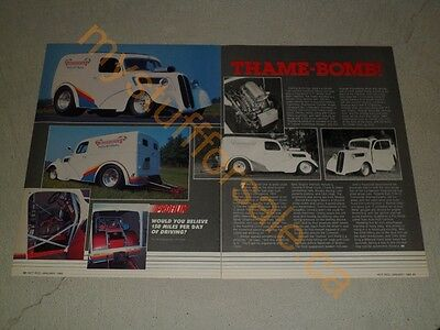 1950 Ford Thames Panel Truck Ad / Article