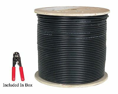 1000' ft CAT6 UV/CMX 23 AWG Waterproof Outdoor Direct Burial Solid Network Cable