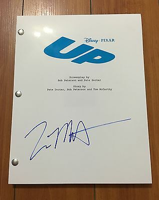 "TOM MACARTHY SIGNED PIXAR ""UP"" MOVIE SCRIPT SCREENPLAY w/EXACT PROOF OF AUTO"