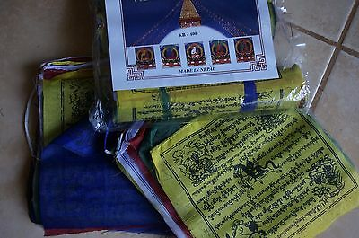 Tibetan prayer flags wind horse Nepal Tibetan Prayer 25 Flags peace hope 19cm