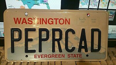 Expired Washington Vanity Personalized PEPRCAD License Plate Tag WA