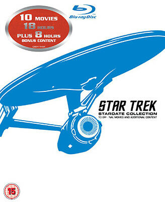 Star Trek: Stardate Collection-10 Movies NEW Classic Blu-Ray 12-Disc Set Shatner