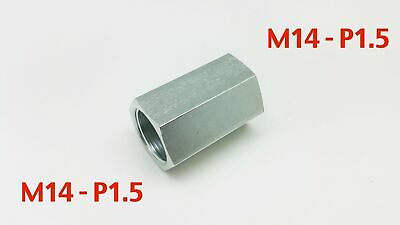 Steel Adaptor M14 x 1.5 Female to M14x1.5 Female Fittings HEX 22 L=43mm/1.7inch