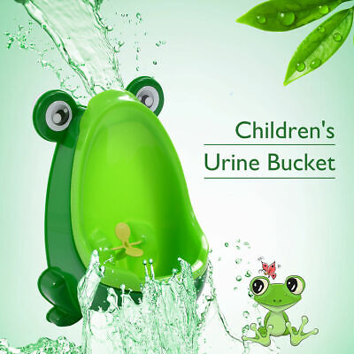 c52a828204fc4 Green Cute Frog Potty Training Urinal For Boys Kids With Funny Aiming Target  New