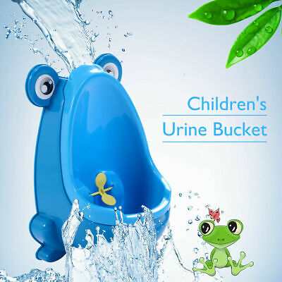Blue Cute Frog Potty Training Urinal For Boys Kids With Funny Aiming Target New