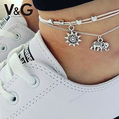 Fashion Elephant Chain Anklet Ankle Bracelet Barefoot Sandal Beach Foot Jewelry