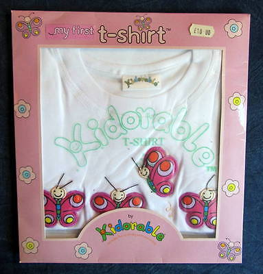 BUTTERFLY T-SHIRT - Up to 18 Months = 'My First T Shirt' - Reduced from £10