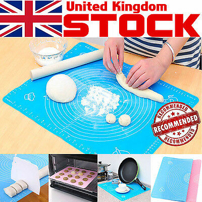 Silicone Rolling Sugarcraft Fondant Clay Cut Mat Pastry Dough Cake Tool 50*40CM