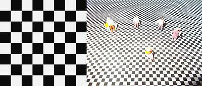200Mm X 280Mm Ho/oo Scale Self Adhesive Checker Board Sheet Malls Station Floors