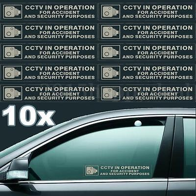 CCTV in Operation for Accident Security Purposes Window Signs Sticker Car For VW