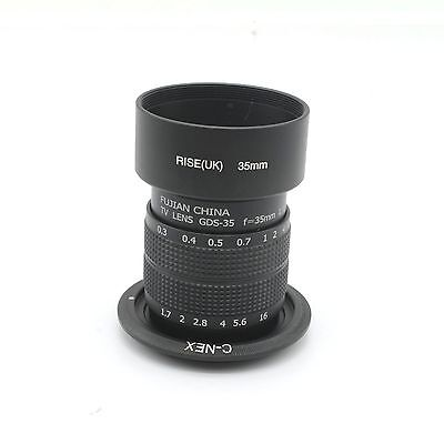 FUJIAN 35mm F/1.7 C mount CCTV lens for SONY E Mount NEX-5 NEX-3 5N C3  +hood