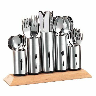 Stainles Steel Flatware Organizer Silverware Holder Caddy Service Drawer Cutlery