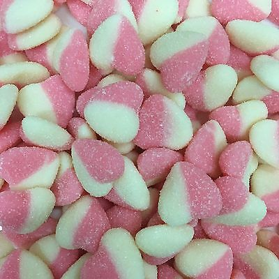 Pink & White Hearts Baby Pink And White Lollies Soft 1Kg Approx 200Ct