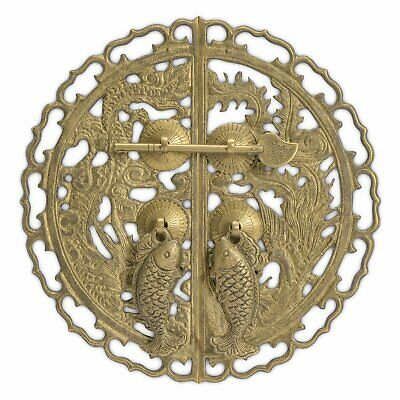 CBH DRAGON Chinese Brass Door Cabinet Pull Hardware 9""
