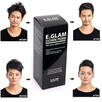 E.Glam Down Perm Kit Men Side Hair Styling Fast Self  120ml Easy Mohican