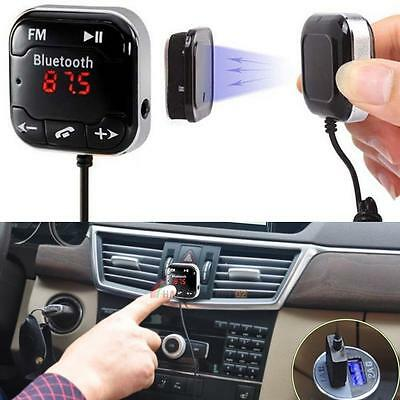 Wireless Bluetooth Car Kit FM Transmitter USB LCD SD Remote MP3 Player Cable UK