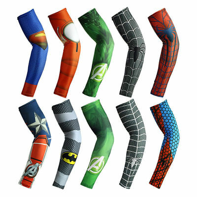 Superman Bike Arm Sleeve UV Protection Outdoor Sport Spiderman Cuff Sleeve Cover