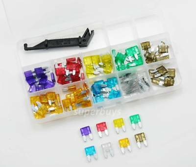 1 or 100pc 3-30A Mini Blade Fuse + Puller Car Auto Vehicle Assorted Kit Set MINI