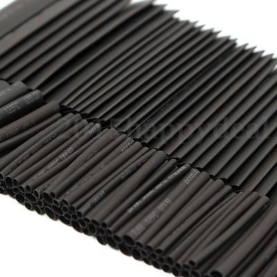 254Pcs Black Heat Shrink Tubing Kit Wire Electrical Car Assortment Sleeving Tube