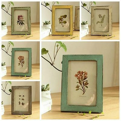 5 Colours Pop Photo Picture Frame Vintage Antique Shabby Chic Choice Solid Wood