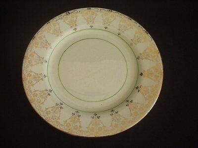 Bcm/nelson Ware -Tea/side Plate -Gold & Green