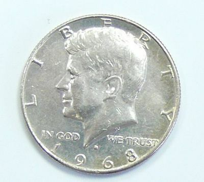Half Dollar Münze USA 1968
