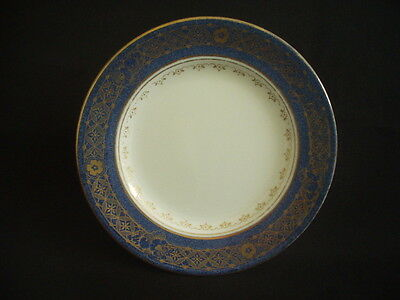 VINTAGE CROWN STAFFORDSHIRE TEA/SIDE PLATE ~COBALT BLUE & GILT ~c.1920s