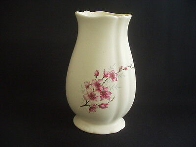 """Vintage Axe Vale Pottery Vase ~Floral Decoration ~7.25"""" In Height"""