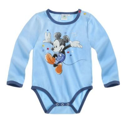 Disney Mickey Body, Langarm, blau, Gr. 62-92