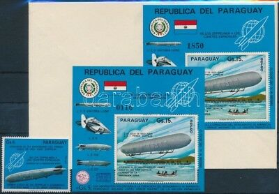 Paraguay stamp Events, zeppelin + block + block on FDC 1975 MNH WS205464