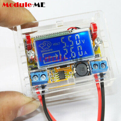 DC-DC step-down power supply adjustable push-button module with LCD display UK