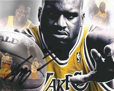 Shaquille O'Neal Hand Signed 8x10 Autographed Photo w Los Angeles Lakers