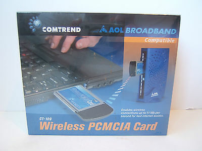 Comtrend CT-100 Wireless PCMCIA Card AOL Broadband Compatible New Sealed NIP