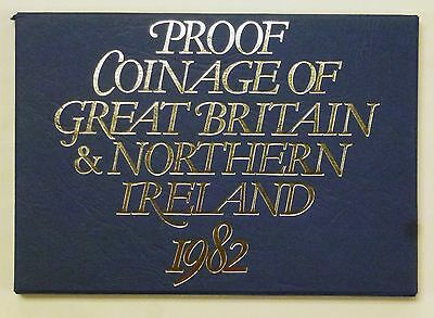 {BJSTAMPS} 1982 PROOF Coinage GREAT Britain Northern IRELAND 7 coin set